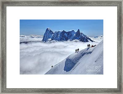 Step Into The Void Framed Print by James Anderson