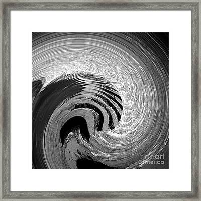 Step Into The Wave Framed Print by Malcolm Suttle