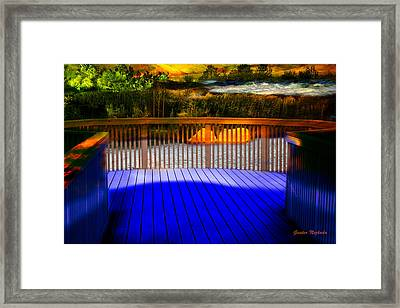 Framed Print featuring the photograph Step Out by Gunter Nezhoda