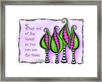 Step Out Of The Forest Framed Print