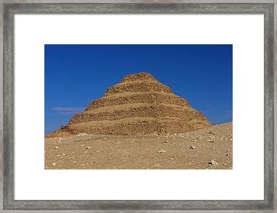 Step Pyramid Of King Djoser At Saqqara  Framed Print