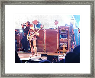Stephan The Bass Player Framed Print by Aaron Martens