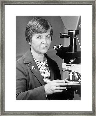 Stephanie Kwolek Framed Print by Hagley Museum And Archive