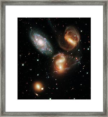Stephan's Quintet Galaxies Framed Print by Nasa/esa/stsci/hubble Sm4 Ero Team