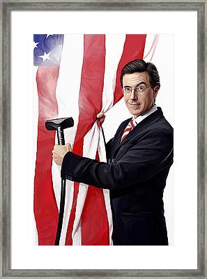 Stephen Colbert Artwork Framed Print