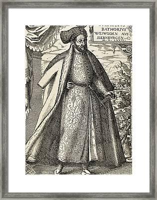 Stephen I Bathory (1533-1586 Framed Print by Prisma Archivo