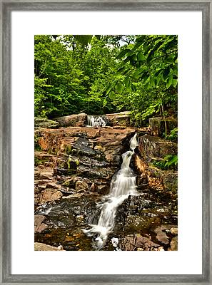 Stepped Falls - Ellsworth New Hampshire Framed Print by Naturally NH