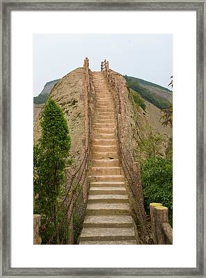 Stepped Pathway In The Mountain, Ziyuan Framed Print by Keren Su
