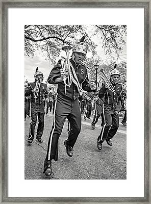 Steppin' Out Monochrome Framed Print