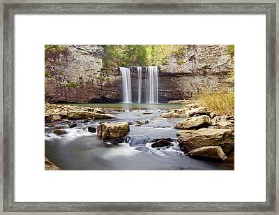 Stepping Down Framed Print by Scott Moore