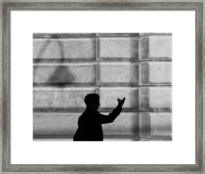 Stepping From The Shadows.. Framed Print by A Rey