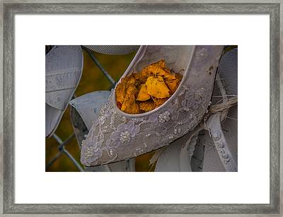 Stepping Into Fall Framed Print by Pravin  Sitaraman