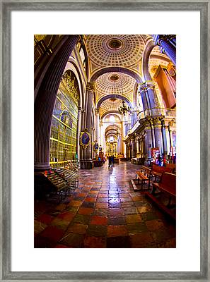 Stepping Into Puebla Cathedral Framed Print
