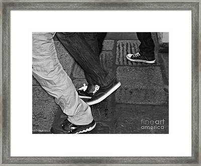 Framed Print featuring the photograph Stepping Out by Clare Bevan