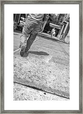 Stepping Out In The City Framed Print by Karol Livote