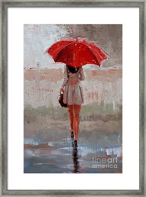 Stepping Out Framed Print by Laura Lee Zanghetti