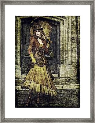 Stepping Out Framed Print by Maynard Ellis