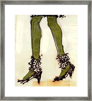 Stepping Out With My Baby Framed Print by Carolyn Weltman