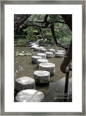 Stepping Stone Kyoto Japan Framed Print
