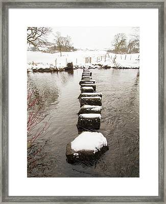 Stepping Stones Across The River Rothay Framed Print by Ashley Cooper
