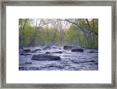 Stepping Stones Framed Print by Bill Cannon