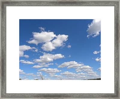 Framed Print featuring the photograph Stepping Stones In The Sky by Teresa Schomig