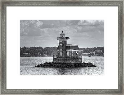 Stepping Stones Lighthouse II Framed Print by Clarence Holmes