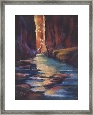 Stepping Stones Zion Canyon Framed Print