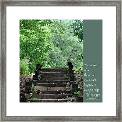 Steps And Lao Tzu Quote Framed Print by Heidi Hermes