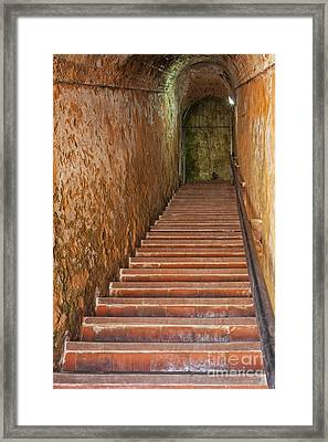 Steps And Staircase Framed Print