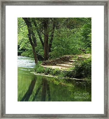 Framed Print featuring the photograph Steps At Blue Spring by Julie Clements