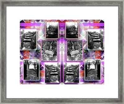 Steps Double Purplered  Framed Print
