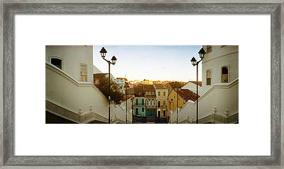 Steps Leading Up To Igreja Framed Print by Panoramic Images
