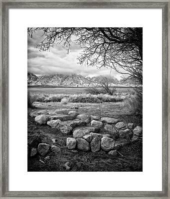 Steps Manzanar Ca Framed Print