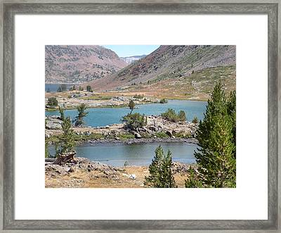Steps Of Water Framed Print by Peter Hennessey