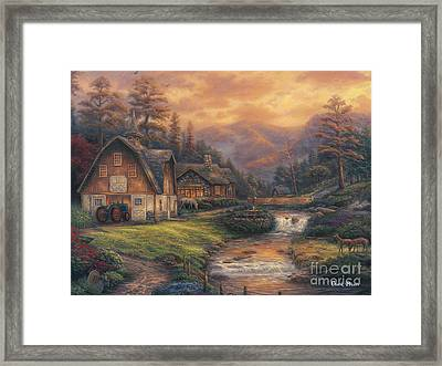 Steps Off The Appalachian Trail Framed Print