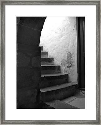 Steps On Patmos Framed Print