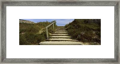 Steps Onto A Beach, Pontusval Framed Print by Panoramic Images
