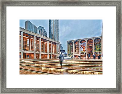Steps To Fame Lincoln Center Framed Print by Jeffrey Friedkin