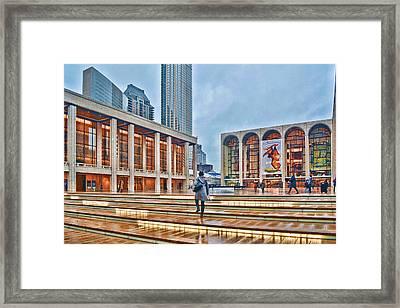Steps To Fame Lincoln Center Framed Print