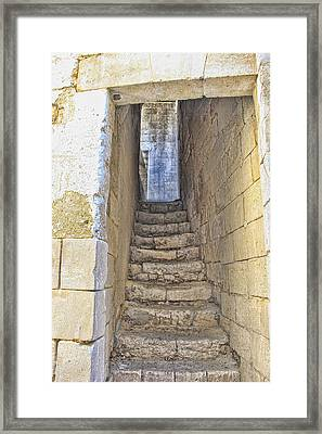 Steps To Matera Framed Print