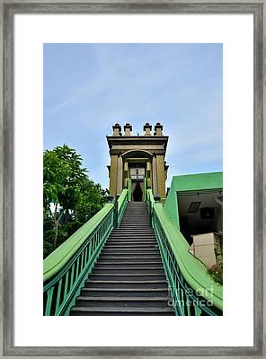Steps To Muslim Mystic Shrine Singapore Framed Print by Imran Ahmed