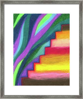 Steps To The Future Framed Print