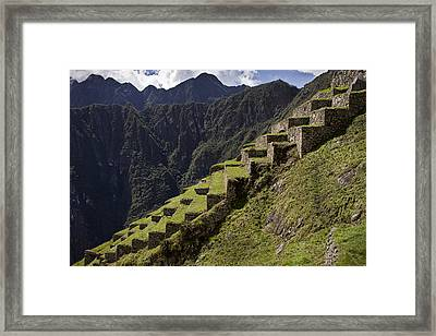 Steps To The Past  Framed Print by Kim Andelkovic