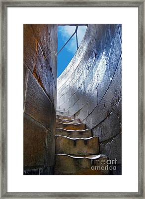 Steps To The Top Of The Leaning Tower Of Pisa - Toscana - Italia Framed Print