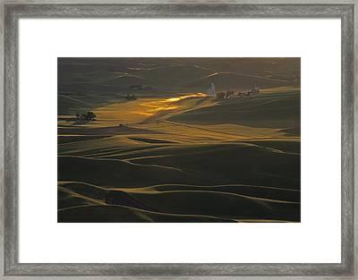 Steptoe Butte Sunset Framed Print