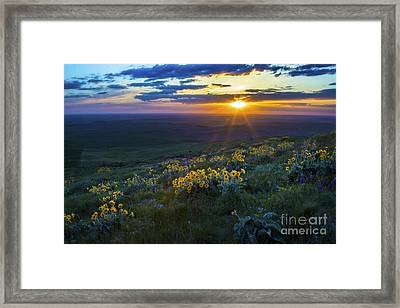 Steptoe Sunset Framed Print