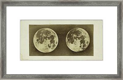 Stereoscopic Image Of The Full Moon, Andries Jager Framed Print