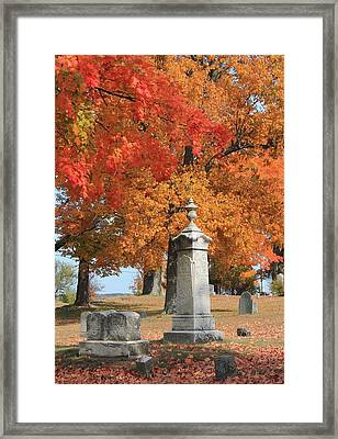 Sterling Ma Burial Ground Framed Print