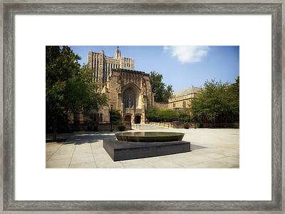 Sterling Memorial Library And The Women's Table - Yale University Framed Print